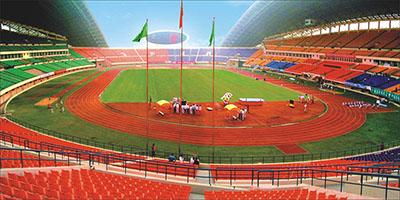 河南省体育中心塑胶跑道案例