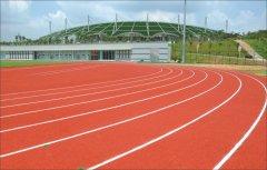 广州大学城中心体育场副场塑胶跑道