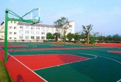深圳坪湖中学硅pu篮球场